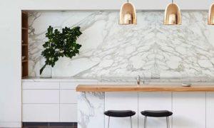 Crédence cuisine en marbre