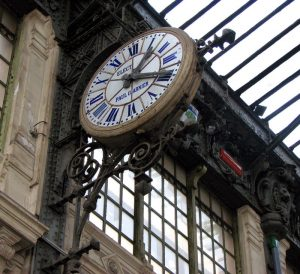 Photo d'une horloge de gare