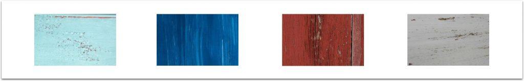 nuancier de superposition de peintures