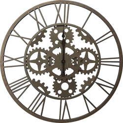Horloge murale à rouage style industriel